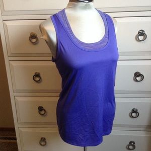 nwt LUCY purple layered synergy tank XS
